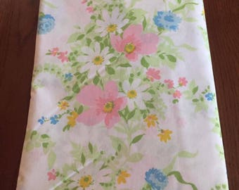 Vintage Twin Flat Sheet by JCPenny