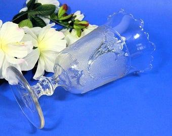 Antique EAPG Celery Vase Sprig in Snow Pattern