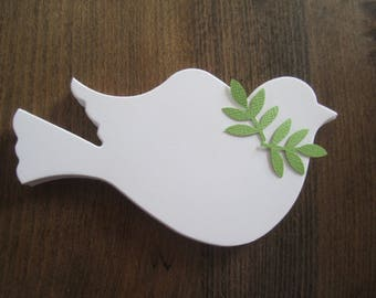 100 Die Cut Dove Paper Doves Bird Wedding Baptism Annnivsary Christmas Ornament White Memorial Doves Celebration Tree of Life Funeral