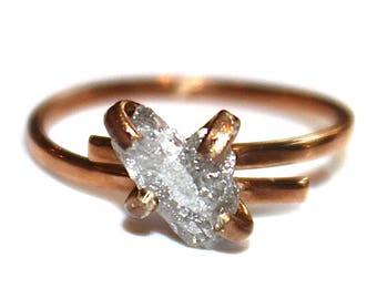 Free Form Heart Diamond Ring Raw Diamond Ring Rough Diamond Ring Real Diamond Jewelry Heart Ring Natural Diamond Bridal Valentines Gift
