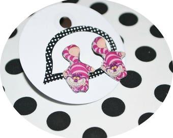 choix de boucles d'oreilles cheshire cat/earrings cat