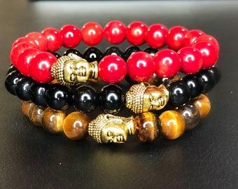 Men's Beaded Buddha Bracelets
