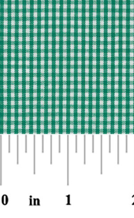 High Quality Fabric Finders Kelly Green Gingham
