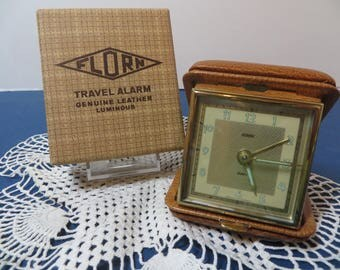 1960's Florn Travel Alarm Clock