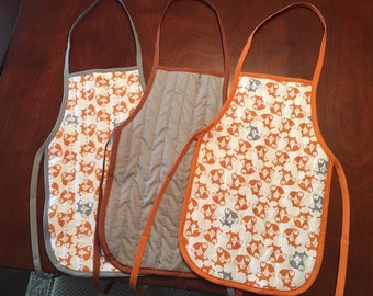 Reversible quilted kid's apron