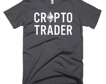 Crypto Trader Tshirt Bitcoin Cryptocurrency Virtual Currency Mining Ethereum Neo