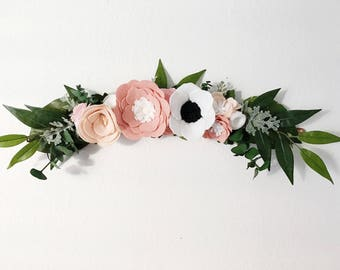 Wall Swag || Wall Arrangement || Felt Flowers || Floral Swag || Floral Decor || Nursery Decor || Rifle Paper Co Inspired