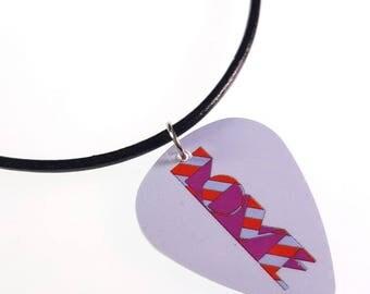The Beatles LOVE Album Cover Art Genuine Guitar Pick Necklace