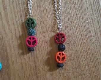 Peace diffuser necklaces
