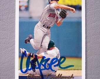 Vintage 1993 Upper Deck Chuck Knoblauch Baseball Card Near Mint - Signed by Chuck Knoblauch