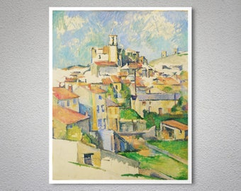 Gardanne, Aix en Provence by Paul Cezanne -  Poster Paper, Sticker or Canvas Print