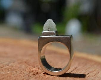 Hollow Apophyllite Shaker Ring