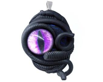 O my darling !! ~~~ Biomech human eye pendant