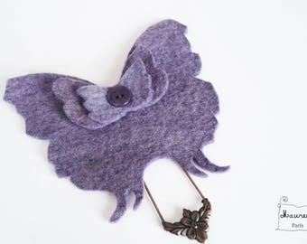 brooch Purple Butterfly (shades of purple)