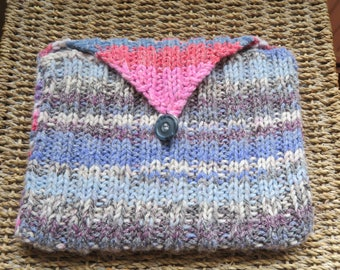 Hand-knitted iPad cover