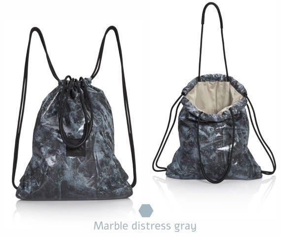 Gray tie dye backpack tote bag multi-way bag SALE drawstring