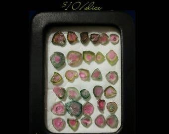 Watermelon Tourmaline Slices