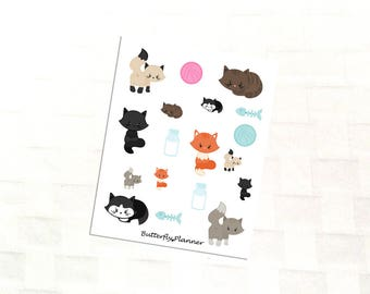 Kitty Cats Deco Stickers, Cat Lover