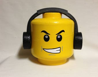 "Custom LEGO inspired ""DJ"" costume head"