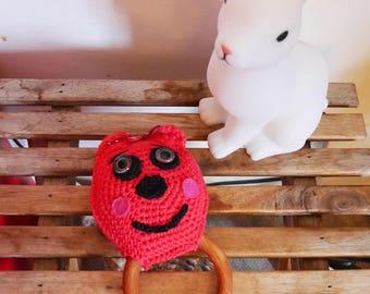 Little baby bear rattle handmade crochet - Unique