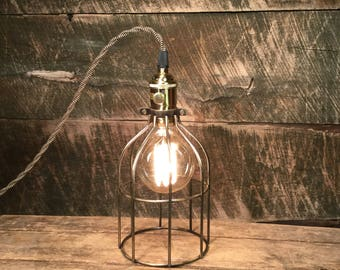 Trouble Cage Table Lamp by Stonehill Design - Table Lamp Desk Lamp Industrial Lighting