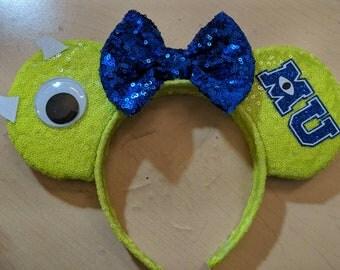 Mike Wazowski Monsters Inc Monsters University Minnie Mouse ears