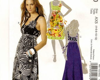 A Sleeveless, Low Neckline, High Waist Dress with Length Variations Sewing Pattern for Women: Uncut - Sizes 4-6-8-10-12 ~ McCall's 6110