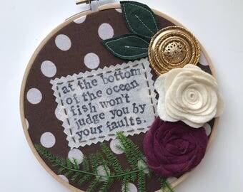 """Embroidery Hoop / Brand New """"Same Logic/Teeth"""" Lyrics"""