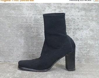 30OFF Vtg 90s mesh minimal elasticized boots 36 6