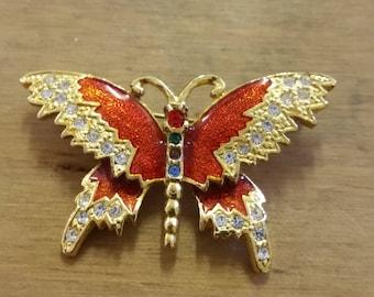 Vintage Enamelled Butterfly Brooch