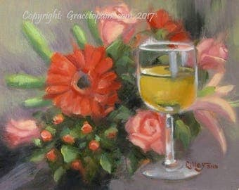 Fine Dining...Original Oil Painting by Maresa Lilley, SND