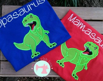Mamasaurus Shirt-Papasaurus Shirt-Matching Parent Shirts-Parent Birthday Shirt-Mom & Dad Shirts