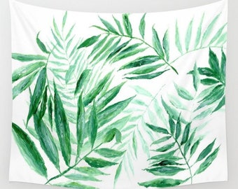 Palm Leaf Wall Tapestry, palm leaf tapestry, tropical leaf tapestry, modern leaf tapestry, palm leaves tapestry, leaf wall tapestry