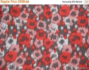 Flat 40% Off Extra Wide Abstract Print Cotton Blend Dress Fabric