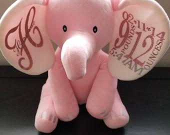 Plush Elephant Pink