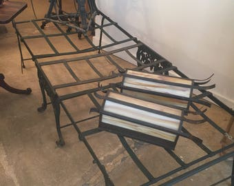 Antique Campaign Folding Bed Iron