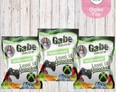 XBox Inspired Fruit Snacks-Video Game Fruit Snack Wrapper-Video Game Birthday Party