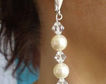 Earrings dangle swarovski Pearl