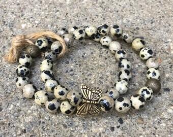 8mm jasper beads gemstones dalmatian jasper butterfly bracelets beaded bracelet butterfly jewelry