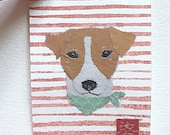 Framed or Unframed, Original Jack Russell Art, Jack Russell Terrier Gift, ACEO