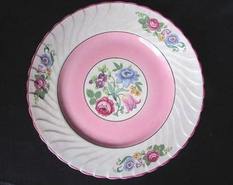 Wedding Plates Small Vintage Plates Dessert Plates Rose Pink Vintage Hanley Set of 4 Small Luncheon Plates