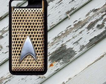 Star Trek The Original Series Communicator Design on iPhone  5 / 5s / 5c / 6 / 6 Plus/7 / 7 Plus Rubber Silicone Case