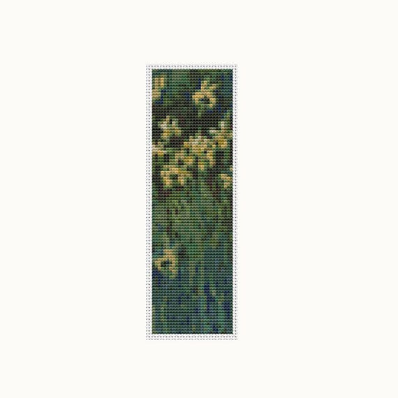 Yellow Irises Bookmark Cross Stitch Kit Embroidery Kit