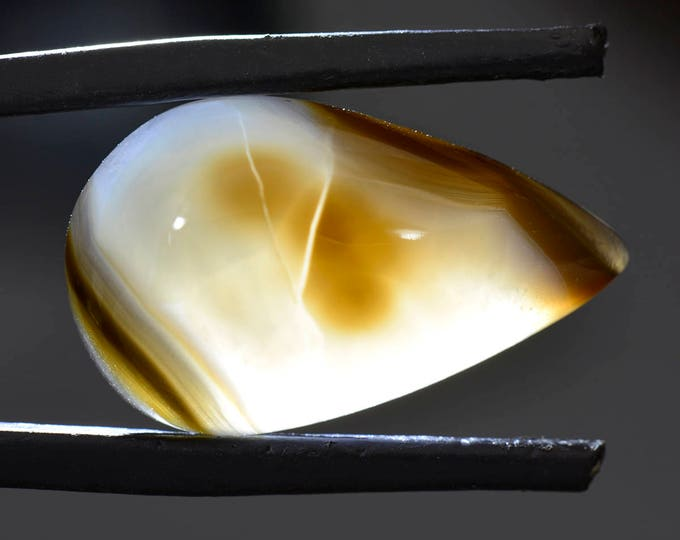 SALE EVENT! Pretty Black Widow Agate Cabochon from Mexico 15.30 cts.