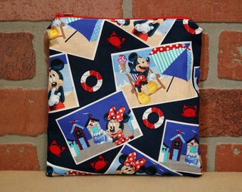 One Sandwich Bag, Reusable Lunch Bags, Waste-Free Lunch, Machine Washable, Mickey and Minnie, Sandwich Sacks, item #SS76