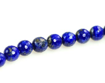 4mm Lapis Bead Strand-AA Grade Lapis Lazuli Beads-Faceted Natural Lapis-Genuine Lapis-Genuine Lapis Beads-4mm Gemstone Bead Strand