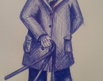 Original Drawing - Overcoat Fellow