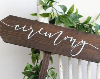 Ceremony Directional Sign-Arrow Pointing Left | Close Out Sale