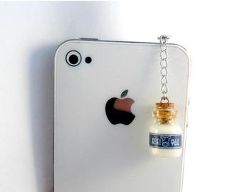 ON SALE Legend Of Zelda Lon Lon Milk Phone Charm, Dust Plug or Cell Phone Strap, for iPod or iPhone :D