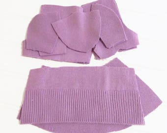 Sweater Doll Kit - MAUVE - Upcycled Cloth Doll Kit